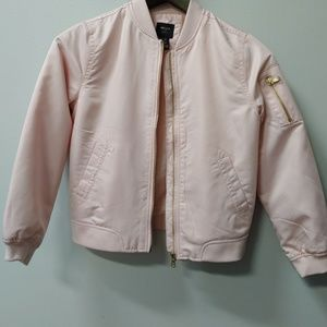 BOGO F21 Girls Pink Gold Bomber Jacket